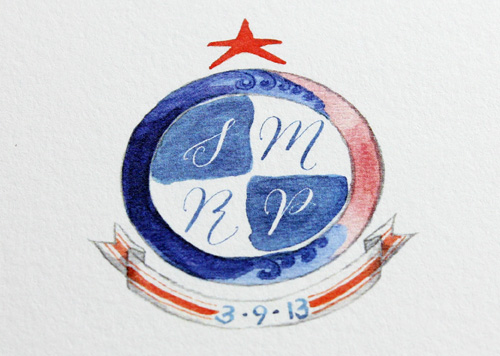 Watercolor Crest Stationary