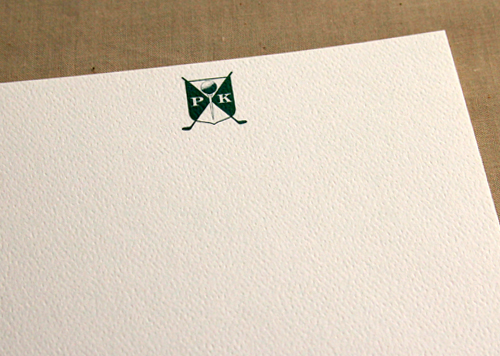 Golf Crest Stationery