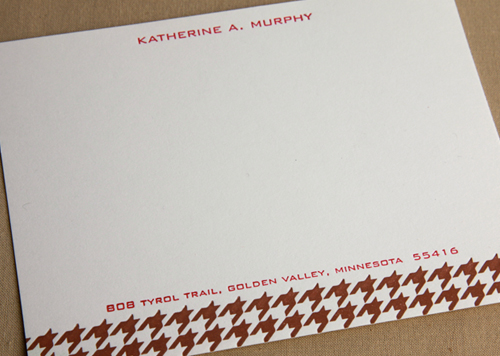 Houndstooth Stationery