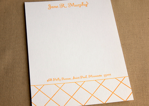 Windowpane Stationery