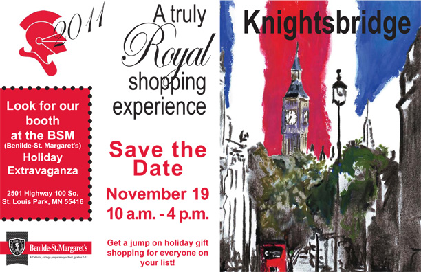 knightsbridge postcard
