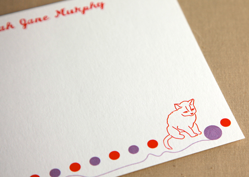 Kitty Curiosity Stationery