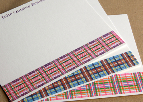 Kids Plaid Stationery
