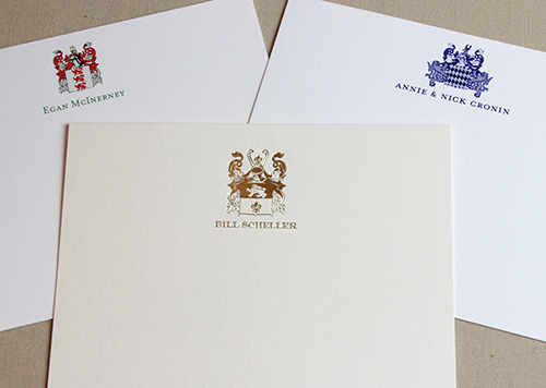 Family Crest Stationary