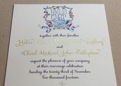 2-intercontinental wedding crest invite close up