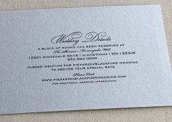 5.5 side initial wedding details card
